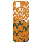Orange White Grey Sea Wavy Stripes Pattern iPhone 5 Cover