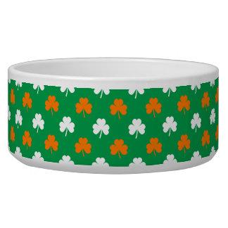 Orange & White Heart Clover on Green St. Patrick's