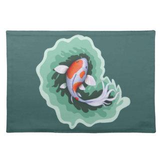 Orange & White Koi Carp Fish Placemat