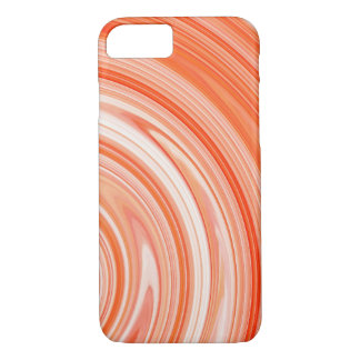 Orange White Spiral Abstract Background iPhone 7 Case