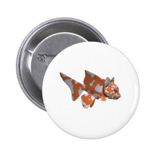 Orange-White Spotted Catfish 6 Cm Round Badge