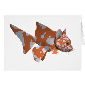 Orange-White Spotted Catfish Greeting Card
