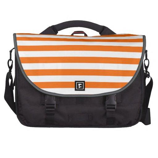 Orange & White Stripes; Striped Commuter Bags