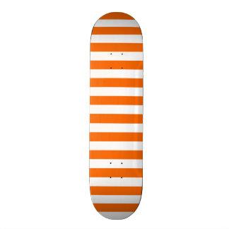 Orange White Stripes Striped Skateboards