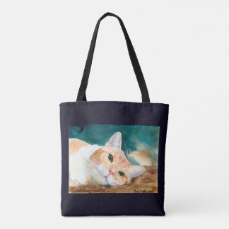 Orange White Tabby Cat- Can We Play Now, Please? Tote Bag