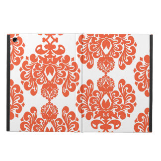 Orange White Vintage Damask Pattern iPad Air Cover
