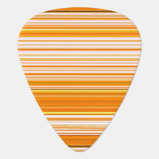 Orange White Yellow Pink Stripe Pattern Plectrum