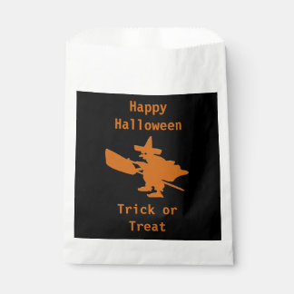 Orange Witch Happy Halloween Favour Bags