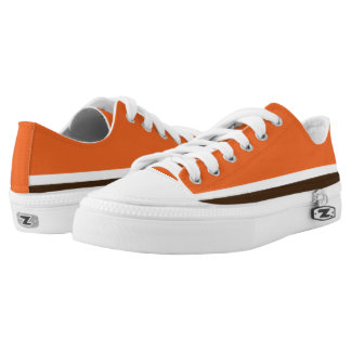 Orange with Brown and White Lo-Top