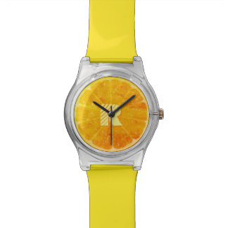 Orange with (or without) your Initial(s) Watch