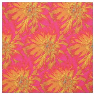 Orange with Pink Background Dahlia