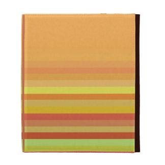 Orange with Stripes iPad Case