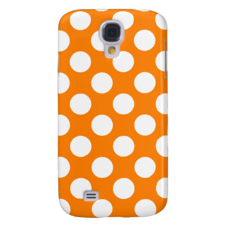 Orange with White Polka Dots Galaxy S4 Case