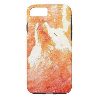 Orange Wolf iPhone 7 Phone Case