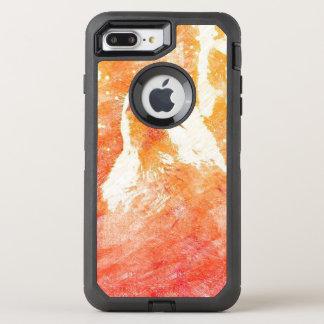 Orange Wolf iPhone 7 Plus Otterbox Case