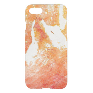 Orange Wolf iPhone 8/7 Clearly™ Case