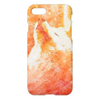 Orange Wolf iPhone 8/7 Glossy Case