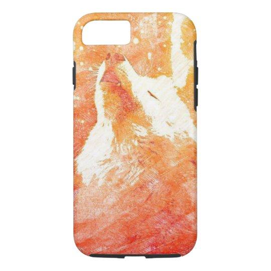 Orange Wolf iPhone 8/7 Phone Case