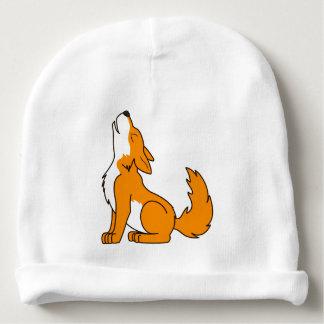Orange Wolf Pup Howling Baby Beanie