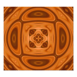 Orange wood abstract pattern photo print