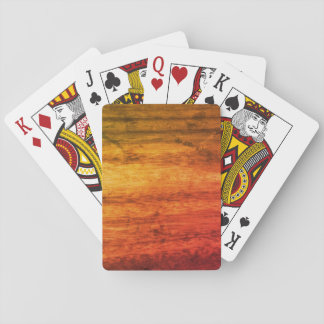 Orange Wood Effect Playing Cards
