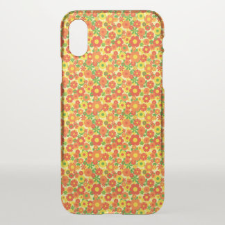 Orange Yellow Beautiful Love Flowers Print iPhone X Case