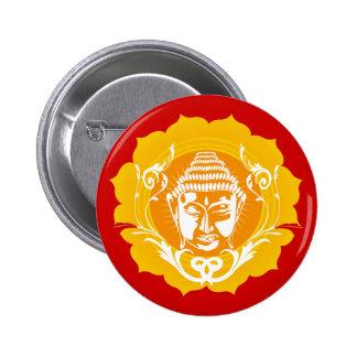 Orange & Yellow Buddha 6 Cm Round Badge