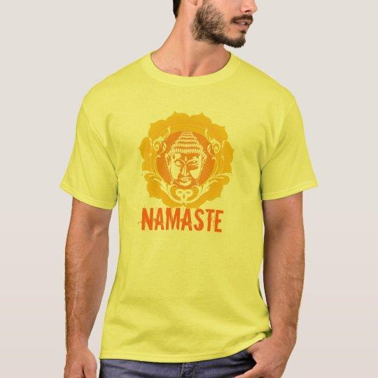 Orange & Yellow Buddha face T-Shirt