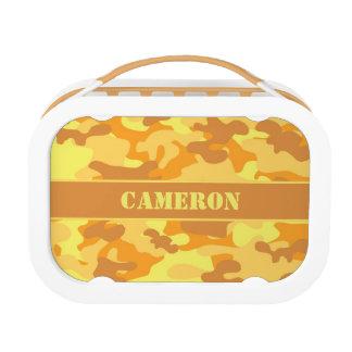 Orange Yellow (Camo) Camouflage | Personalized Lunch Box