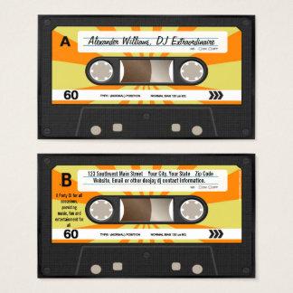 Orange/Yellow Cassette Tape Music DJ Business Card