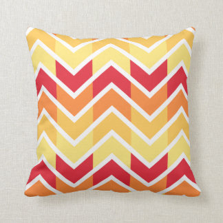 Orange Yellow Chevron Geometric Designs Color Cushion