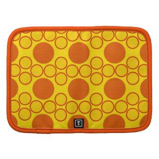 Orange Yellow Circle Dot pattern Background Organizers