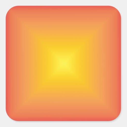 Orange yellow color harmony square sticker