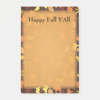 Orange Yellow Fall Leaves Autumn Thanksgiving Post Post-it® Notes