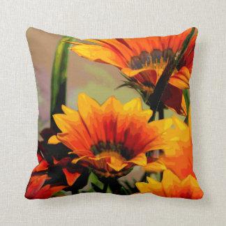 Orange Yellow Floral Cushion