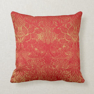 Orange Yellow Floral design Cushion