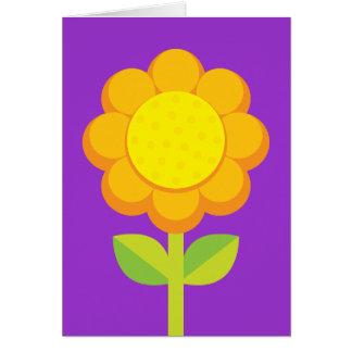 Orange Yellow Flower Greeting Card