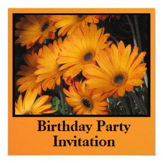 Orange Yellow Flowers 13 Cm X 13 Cm Square Invitation Card