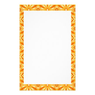 Orange, Yellow Fractal Pattern, Tropical Colors Stationery