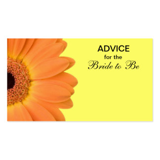 Orange & Yellow Gerber Daisy Advice for the Bride Double-Sided Standard Business Cards (Pack Of 100)