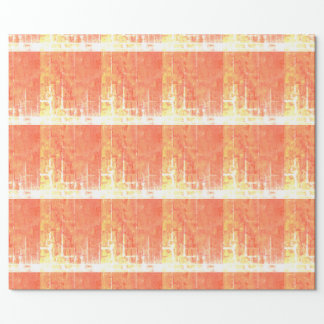 Orange, yellow, gold grid wrappingpaper. geometric wrapping paper