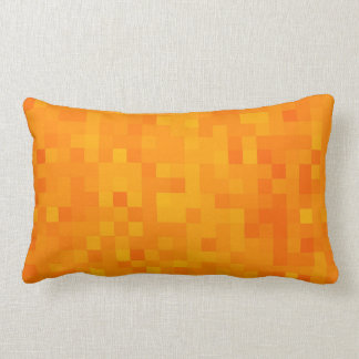 Orange Yellow Golden Sunshine Mosaic Tile Pattern, Lumbar Cushion