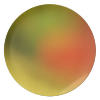 Orange Yellow Green Abstract Plate