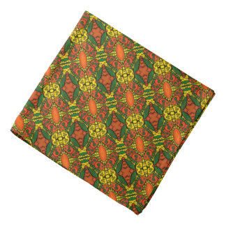 Orange Yellow Green Butterflies Pattern Bandana