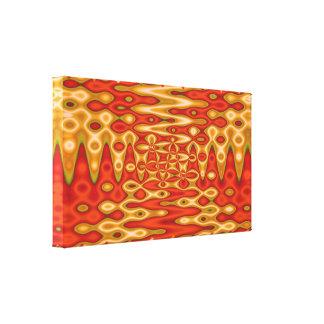 Orange yellow liquid abstract canvas print