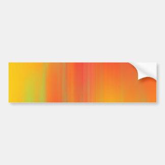 Orange & Yellow Motion Blur: Bumper Sticker