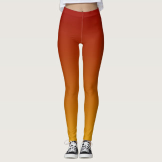Orange Yellow Ombre Sunset Leggings