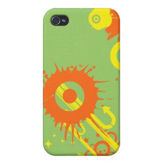 Orange & Yellow Retro Splat iPhone 4/4S Case
