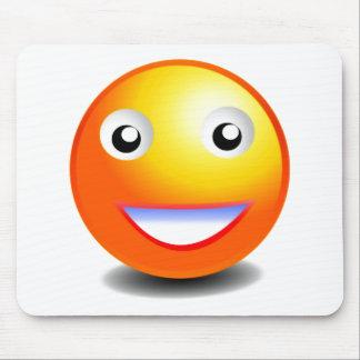 Orange & Yellow Smiley Face Mousepads