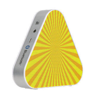 Orange Yellow Sunburst Rays of light Speaker